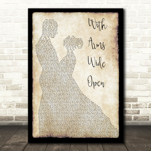 Creed With Arms Wide Open Man Lady Dancing Song Lyric Print
