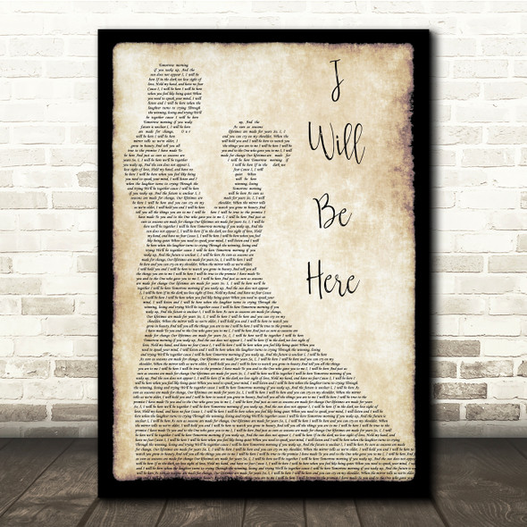 Steven Curtis Chapman I Will Be Here Man Lady Dancing Song Lyric Print