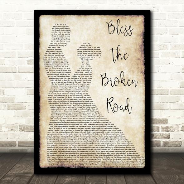 Rascal Flatts Bless The Broken Road Song Lyric Man Lady Dancing Quote Print