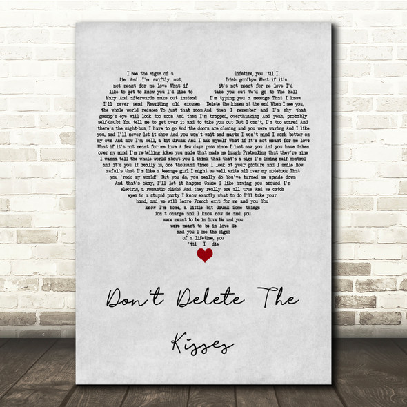 Wolf Alice Don't Delete The Kisses Grey Heart Song Lyric Print