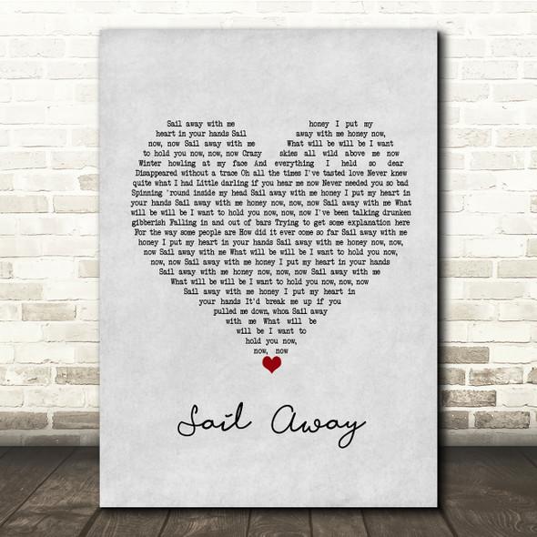 David Gray Sail Away Grey Heart Song Lyric Print