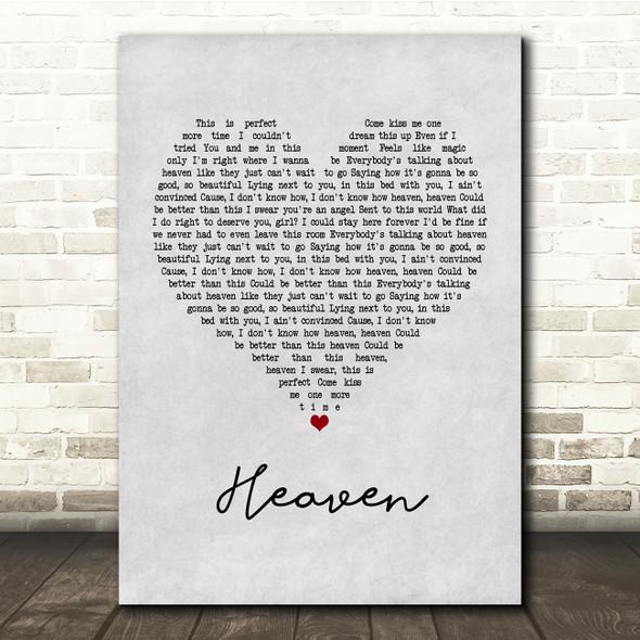 Kane Brown Heaven Grey Heart Song Lyric Print