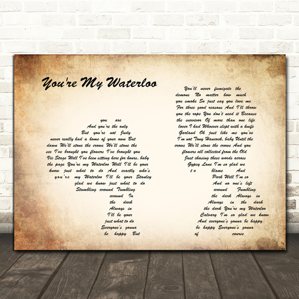 The Libertines You're My Waterloo Man Lady Couple Song Lyric Print