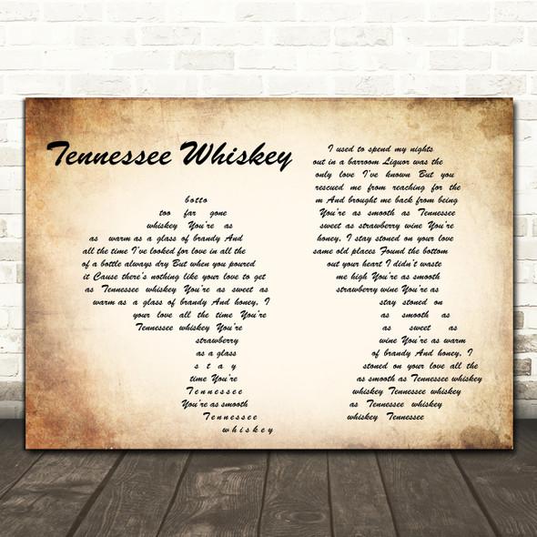 Chris Stapleton Tennessee Whiskey Man Lady Couple Song Lyric Print