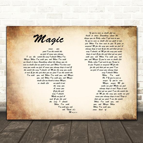 Craig David Magic Man Lady Couple Song Lyric Print