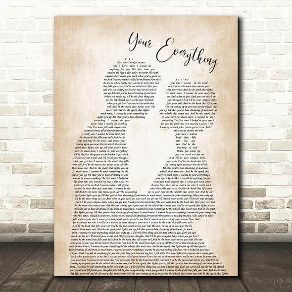 Keith Urban Your Everything Man Lady Bride Groom Wedding Song Lyric Print