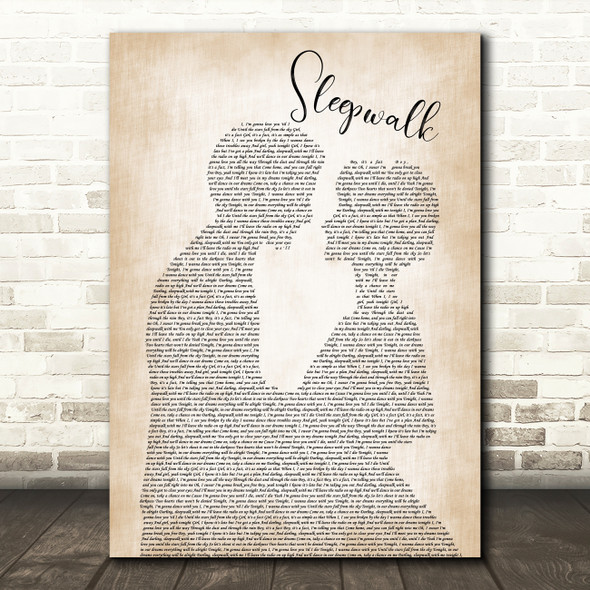 The Shires Sleepwalk Man Lady Bride Groom Wedding Song Lyric Print