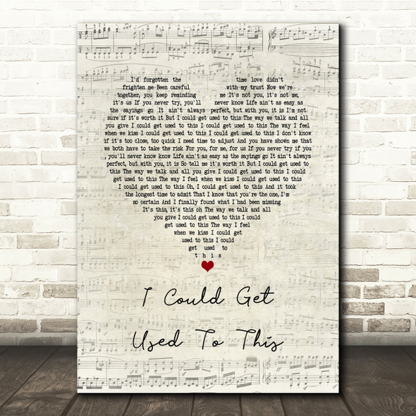 Becky Hill I Could Get Used To This Script Heart Song Lyric Print