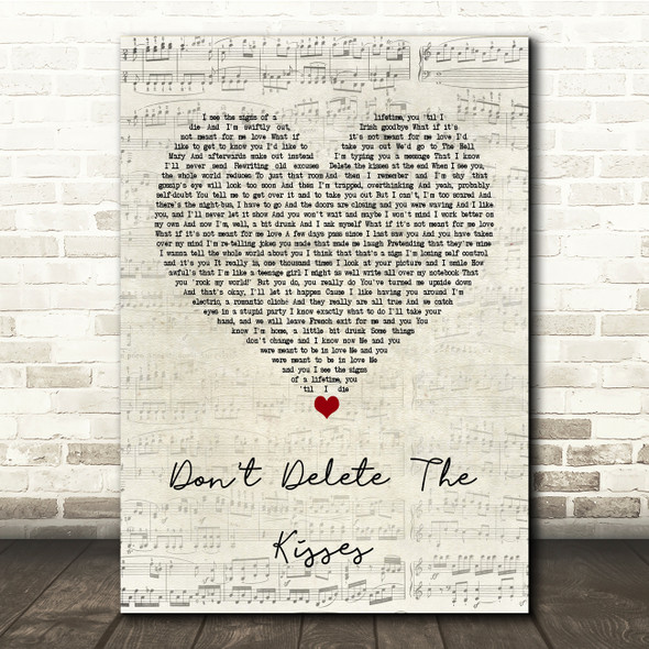Wolf Alice Don't Delete The Kisses Script Heart Song Lyric Print
