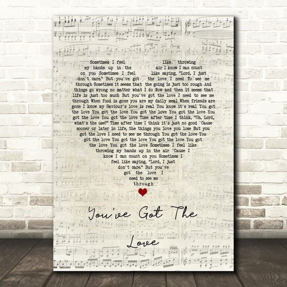 Florence + The Machine You've Got The Love Script Heart Song Lyric Print