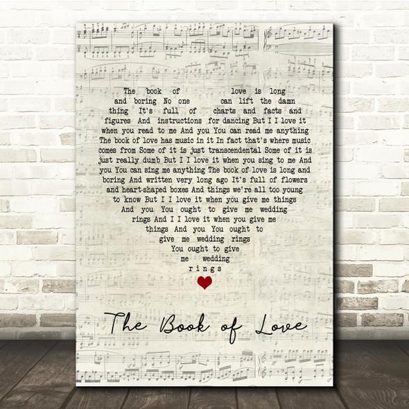 Peter Gabriel The Book of Love Script Heart Song Lyric Print
