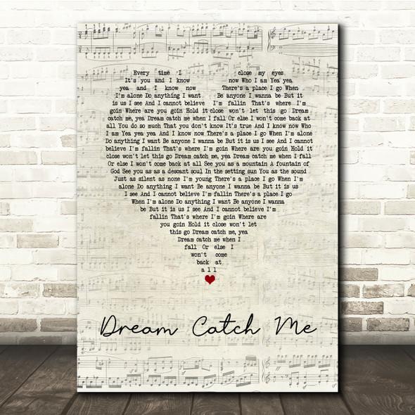 Newton Faulkner Dream Catch Me Script Heart Song Lyric Print