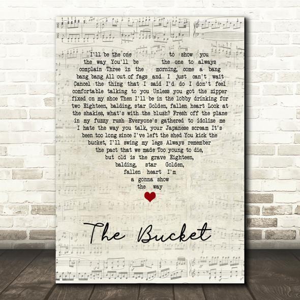 Kings Of Leon The Bucket Script Heart Song Lyric Print