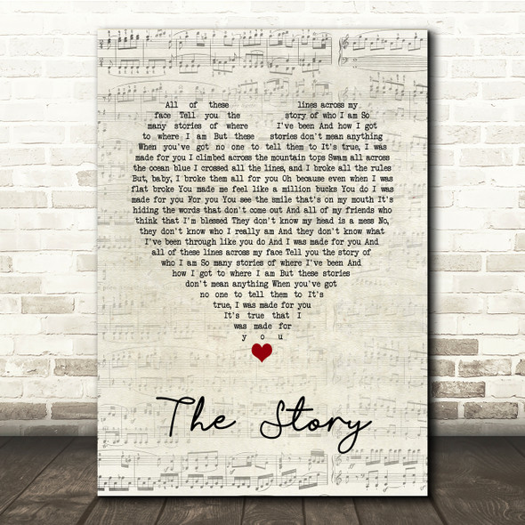 Brandi Carlile The Story Script Heart Song Lyric Print