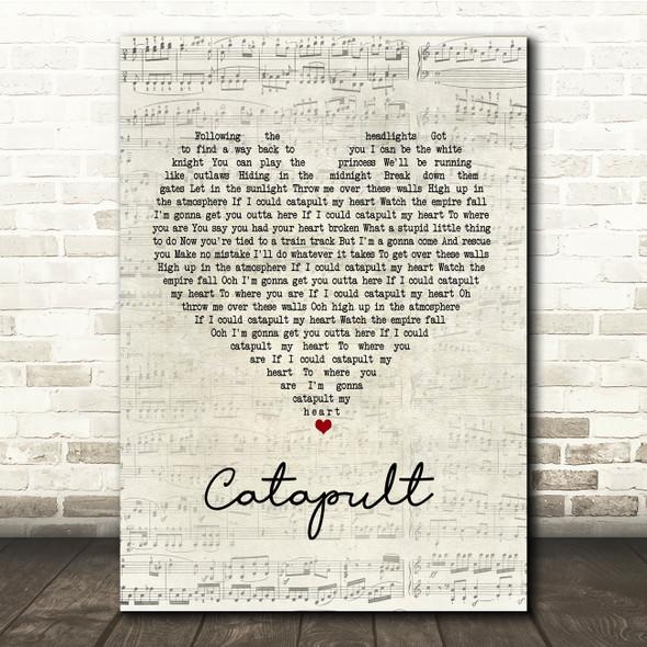 Jack Savoretti Catapult Script Heart Song Lyric Print