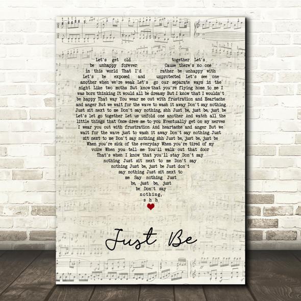 Paloma Faith Just Be Script Heart Song Lyric Print