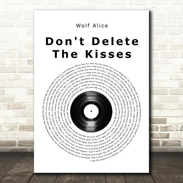 Wolf Alice Don't Delete The Kisses Vinyl Record Song Lyric Print