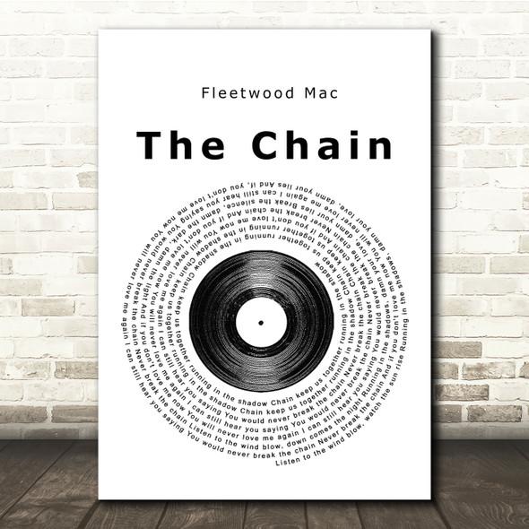 Fleetwood Mac The Chain Vinyl Record Song Lyric Print