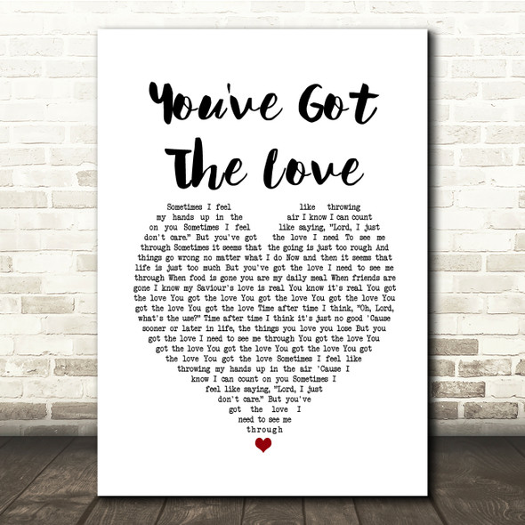 Florence + The Machine You've Got The Love White Heart Song Lyric Print
