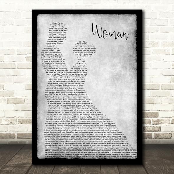Anti-Nowhere League Woman Grey Man Lady Dancing Song Lyric Print