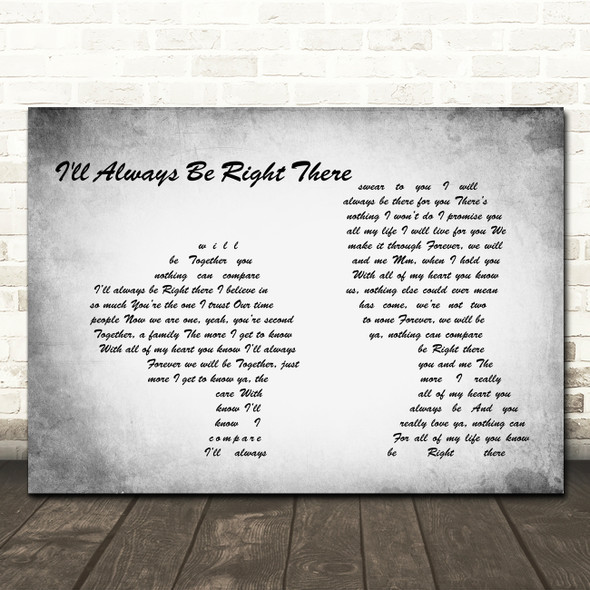 Bryan Adams I'll Always Be Right There Man Lady Couple Grey Song Lyric Print