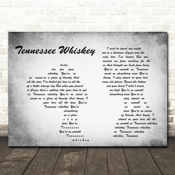 Chris Stapleton Tennessee Whiskey Man Lady Couple Grey Song Lyric Print