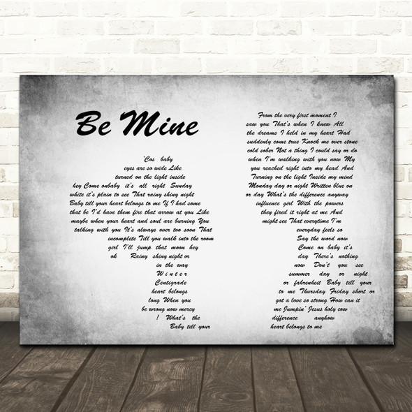 David Gray Be Mine Man Lady Couple Grey Song Lyric Quote Print
