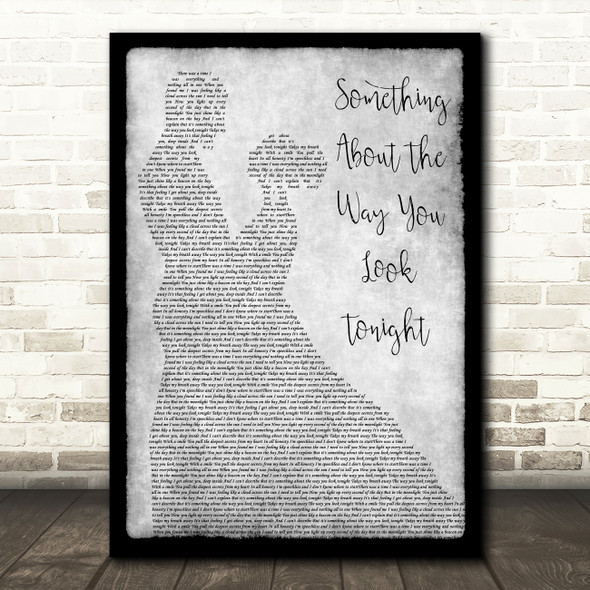 Elton John Something About The Way You Look Tonight Dancing Grey Song Print