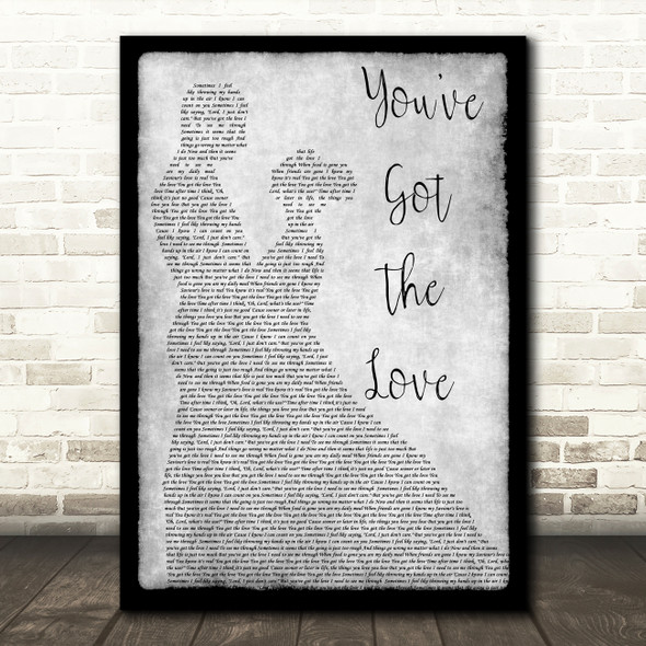 Florence + The Machine You've Got The Love Man Lady Dancing Grey Song Print