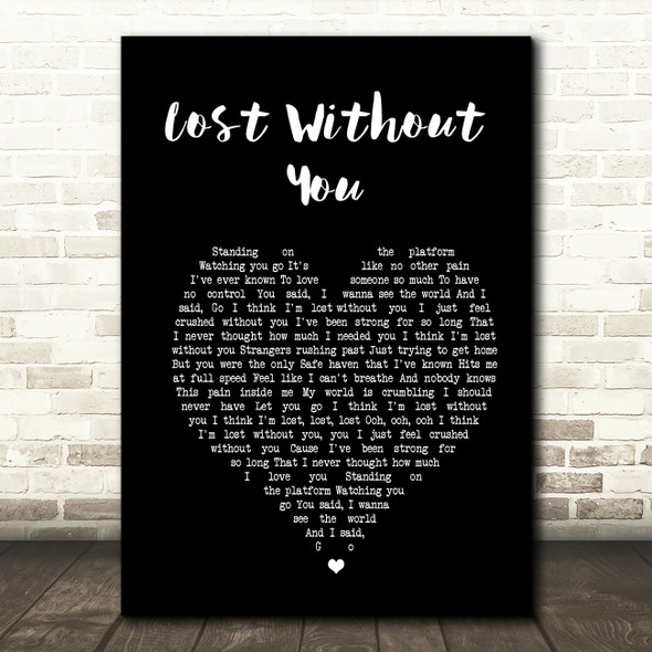 Freya Ridings Lost Without You Black Heart Song Lyric Print