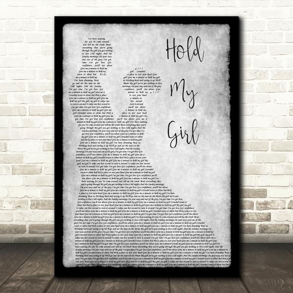 George Ezra Hold My Girl Grey Song Lyric Man Lady Dancing Quote Print