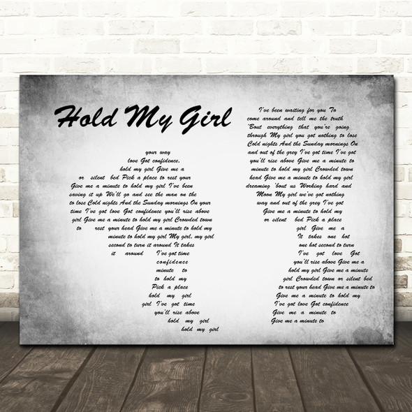 George Ezra Hold My Girl Man Lady Couple Grey Song Lyric Quote Print
