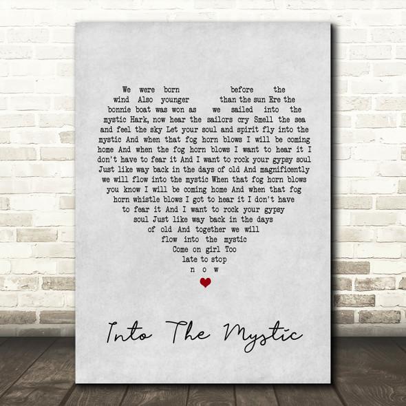 Van Morrison Into The Mystic Grey Heart Song Lyric Quote Print