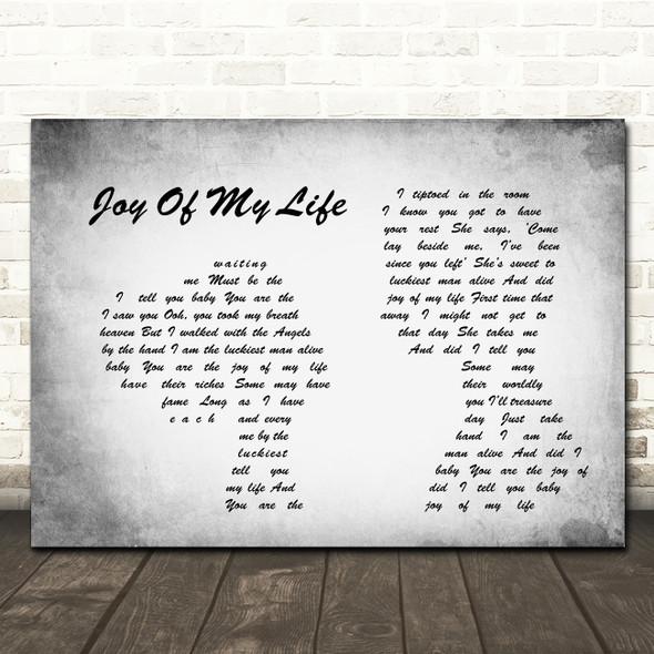 John Fogerty Joy Of My Life Man Lady Couple Grey Song Lyric Print