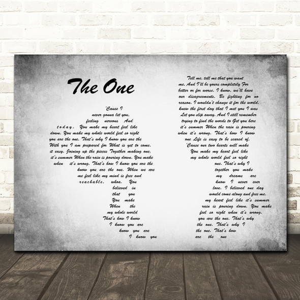 Kodaline The One Man Lady Couple Grey Song Lyric Quote Print