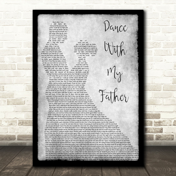 Luther Vandross Dance With My Father Man Lady Dancing Grey Song Lyric Print