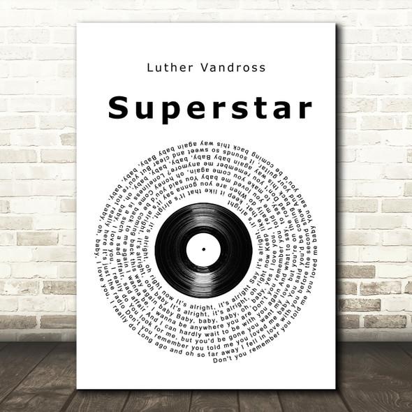 Luther Vandross Superstar Vinyl Record Song Lyric Print