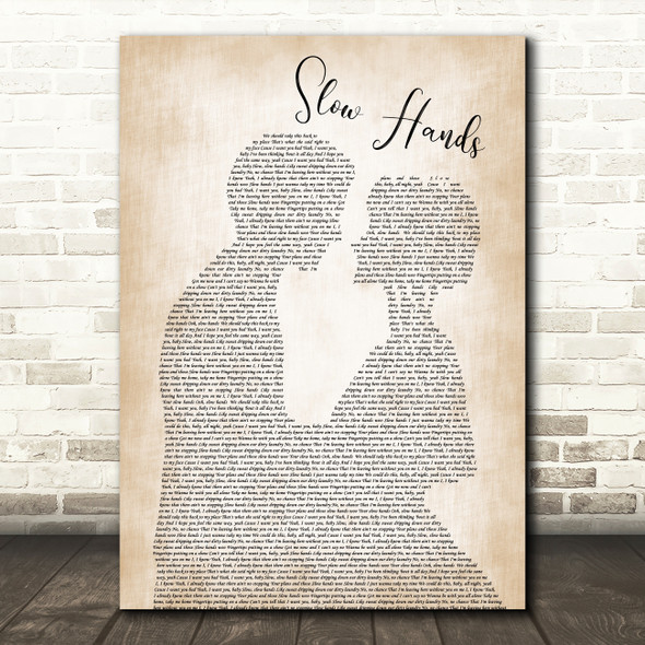 Niall Horan Slow Hands Man Lady Bride Groom Wedding Song Lyric Print