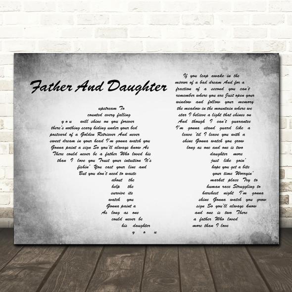 Paul Simon Father And Daughter Man Lady Couple Grey Song Lyric Print