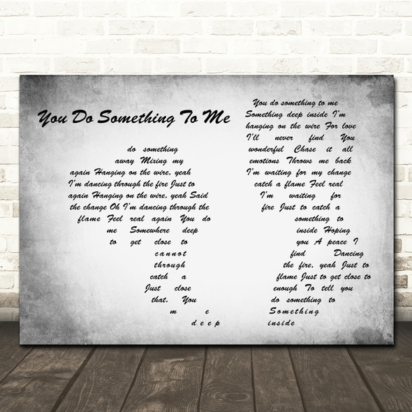 Paul Weller You Do Something To Me Man Lady Couple Grey Song Lyric Print