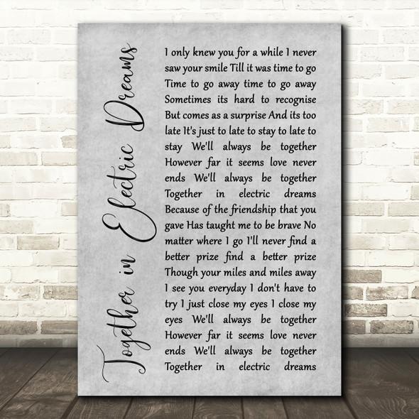 Philip Oakey & Giorgio Moroder Together in Electric Dreams Script Grey Print