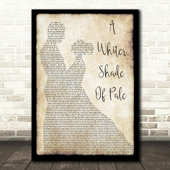 Procol Harum A Whiter Shade Of Pale Man Lady Dancing Song Lyric Print