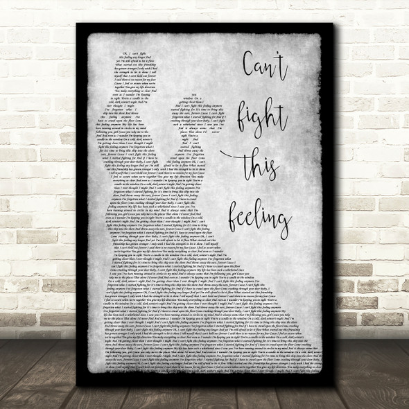 REO Speedwagon Can't Fight This Feeling Grey Man Lady Dancing Song Lyric Print
