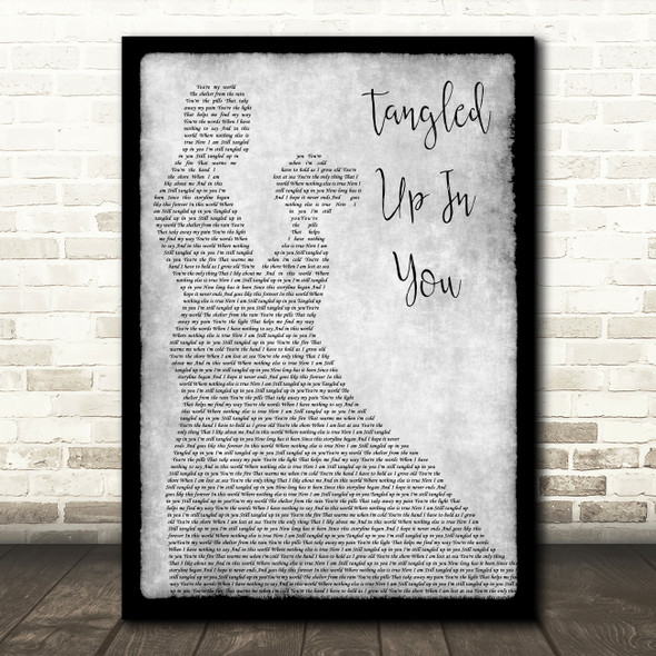 Staind Tangled Up In You Grey Song Lyric Man Lady Dancing Quote Print
