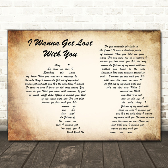 Stereophonics I Wanna Get Lost With You Man Lady Couple Song Lyric Print