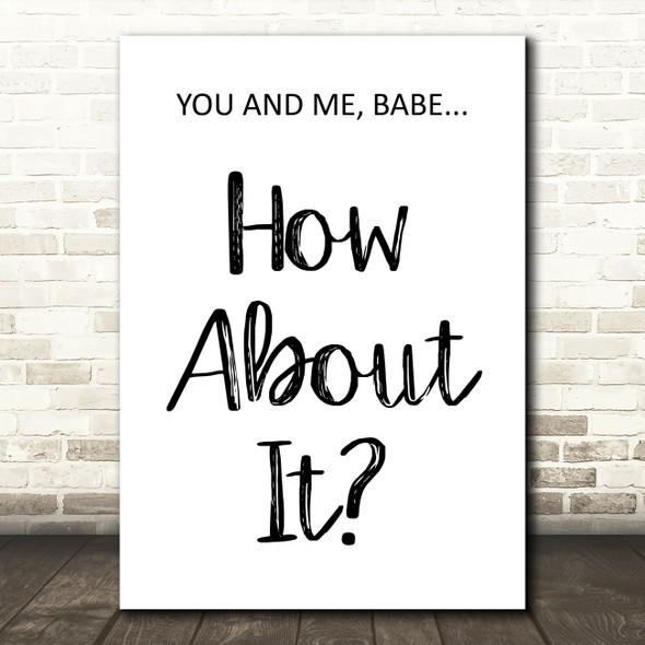Dire Straits Romeo & Juliet How About It Song Lyric Quote Print