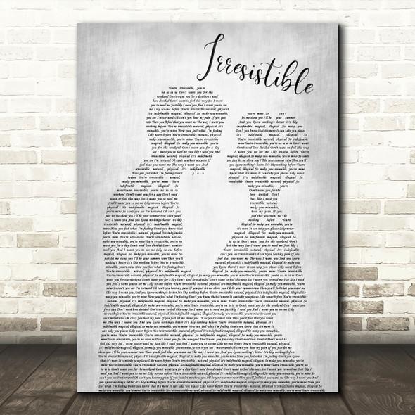 The Corrs Irresistible Man Lady Bride Groom Wedding Grey Print