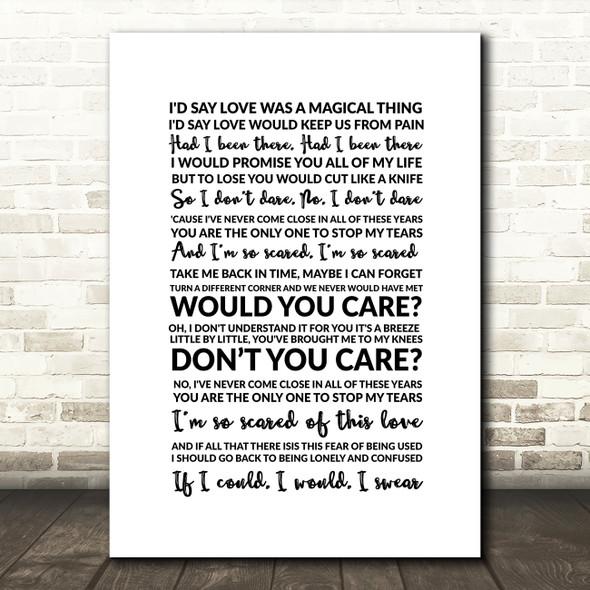George Michael Turn A Different Corner Song Lyric Quote Print