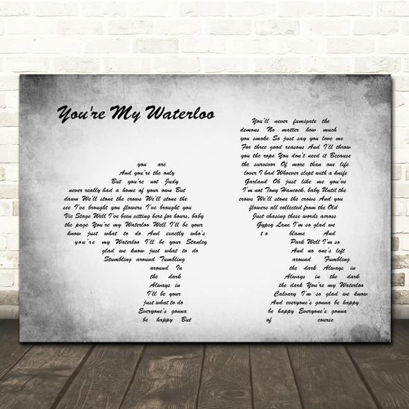 The Libertines You're My Waterloo Man Lady Couple Grey Song Lyric Print