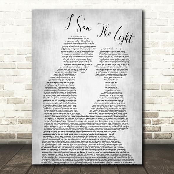 Todd Rundgren I Saw The Light Man Lady Bride Groom Wedding Grey Song Lyric Print